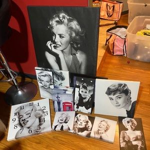 Marilyn Monroe and Audrey picture frames